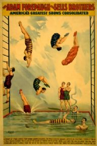 Vintage Circus Poster Adam Forepaugh and Sells Brothers America's greatest shows